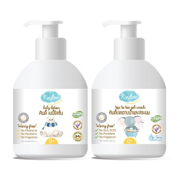 Kindee Top to Toe Gel Wash & Baby Lotion