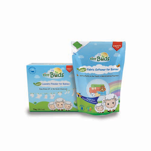 Tiny Buds Natural Laundry Powder and Fabric Softener for Babies