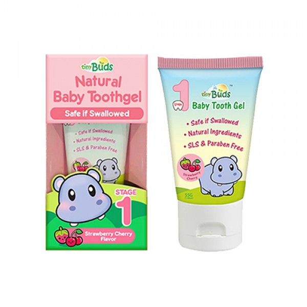 Tiny Buds Natural Baby Tooth Gel  Stage 1 (Strawberry Cherry)