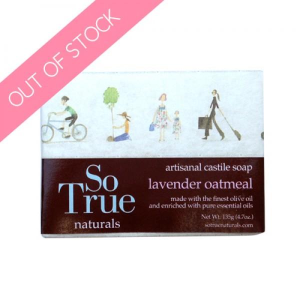 SoTrue Lavender Oatmeal Castile Soap