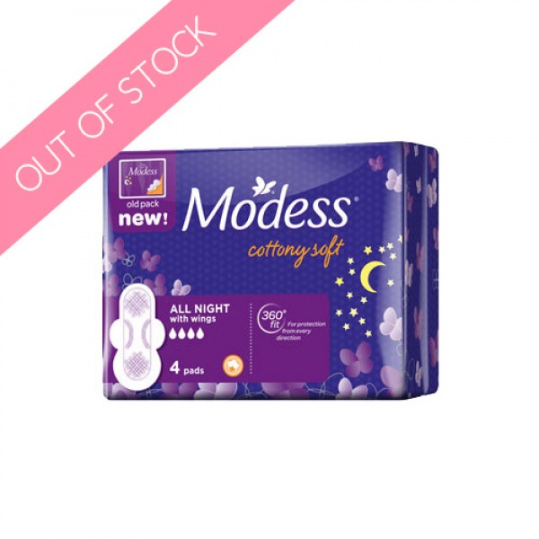 Modess Cottony Soft All Night (Pack 4s)