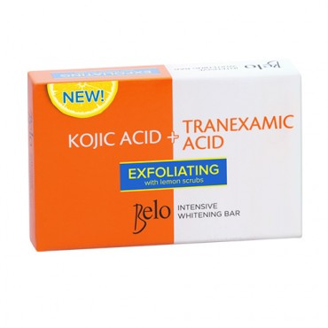 Belo Intensive Whitening Bar with Exfoliating Lemon Scrubs