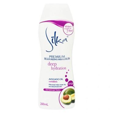 Silka Premium Moisturizing Milk Lotion with Avocado Oil and Almond Milk Protein SPF 23
