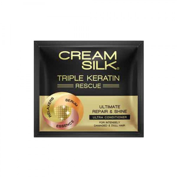 Cream Silk Triple Keratin Rescue Ultimate Repair & Shine Ultra-Conditioner (10ml)