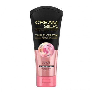Cream Silk Triple Keratin Rescue Ultimate Straight Ultra-Conditioner (170ml)