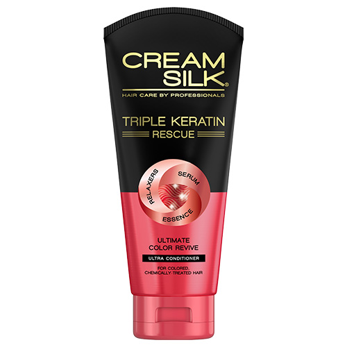 Cream Silk Triple Keratin Rescue Ultimate Color Revive Ultra-Conditioner (300ml)
