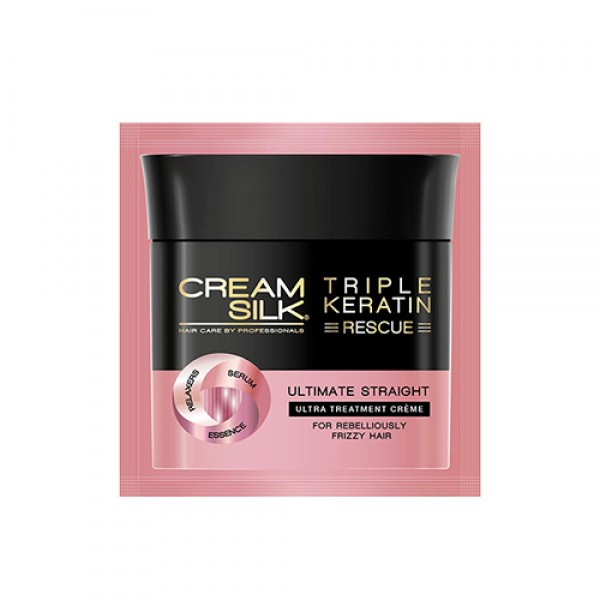 Cream Silk Triple Keratin Rescue Ultimate Ultra Treatment Crème (Ultimate Straight) (12ml)