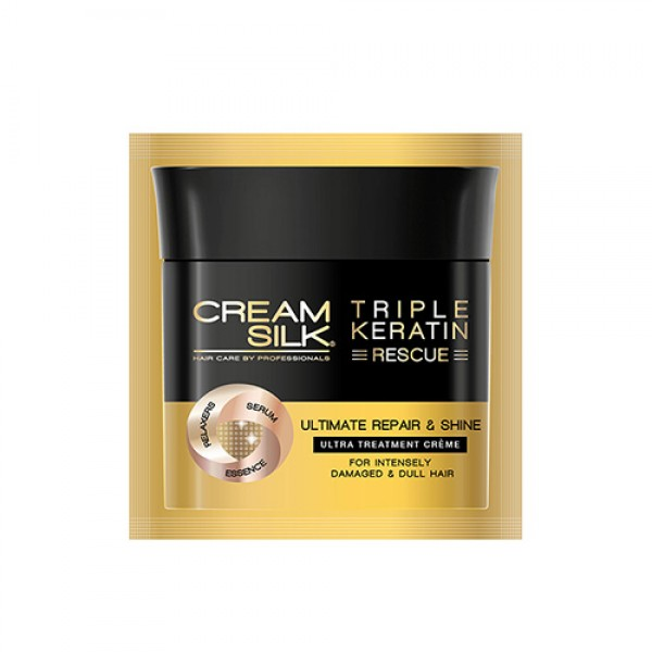 Cream Silk Triple Keratin Rescue Ultimate Ultra Treatment Crème (Ultimate Repair & Shine) (12ml)