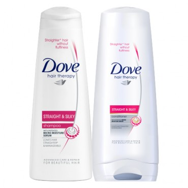 Dove Straight & Silky Shampoo and Hair Conditioner