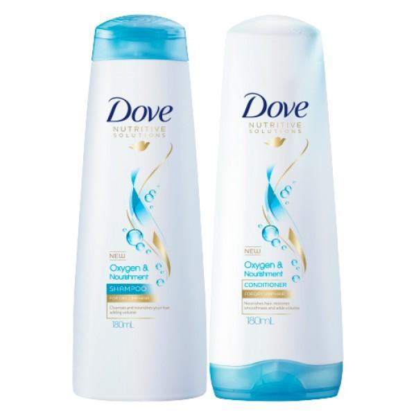 Dove Oxygen & Nourishment Shampoo and Hair Conditioner