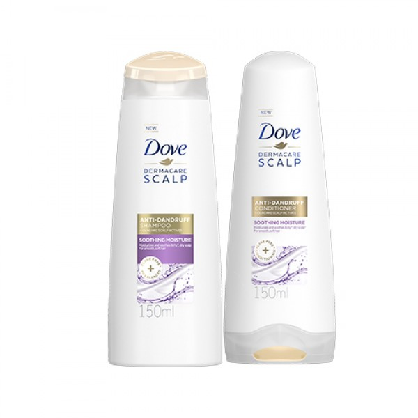 Dove Dermacare Scalp Soothing Moisture Shampoo and Conditioner