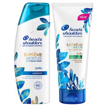 Head & Shoulders Supreme Moisture Shampoo & Supreme Smooth Conditioner