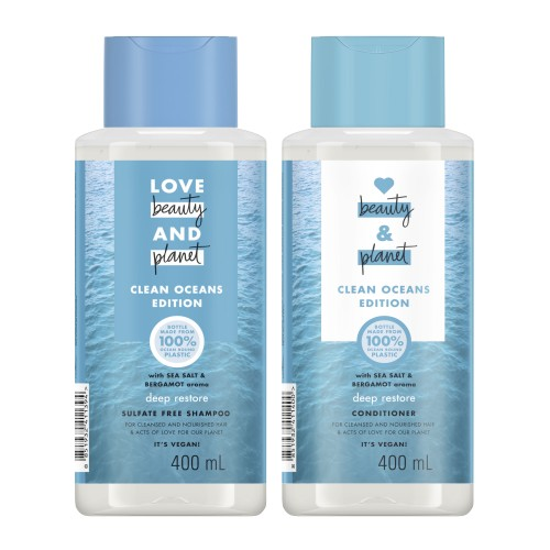 Love Beauty and Planet Clean Oceans Edition with Sea Salt & Bergamot Shampoo & Conditioner