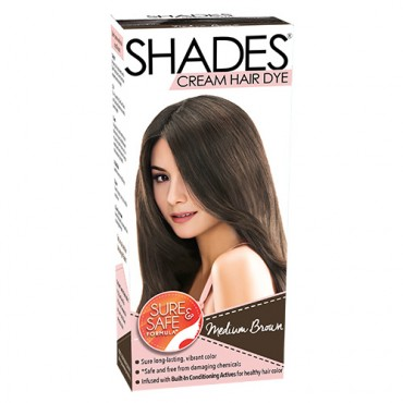 Shades Cream Hair Dye (Medium Brown)