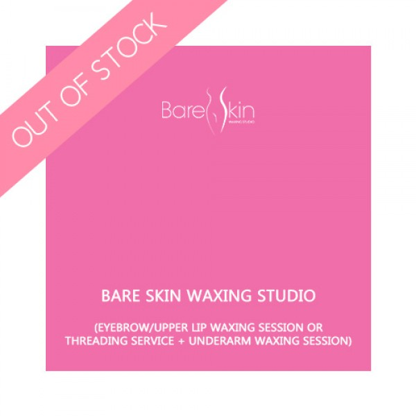 Bare Skin Waxing Studio- Eyebrow/Upper lip waxing session or threading service + underarm waxing session