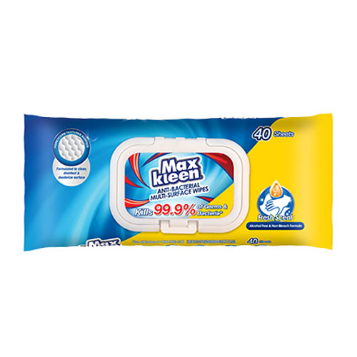 MaxKleen Anti-Bacterial Multi-Surface Wipes