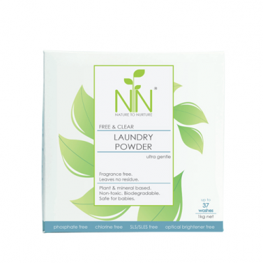 Nature to Nurture Free & Clear Laundry Powder (Fragrance-Free)