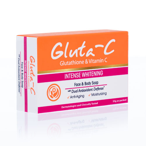Gluta-C Intense Whitening Face and Body Soap with Dual-Antioxidant Defense