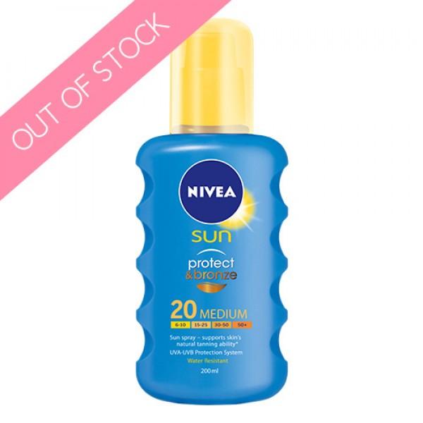 Nivea Sun Protect and Bronze Spray SPF 20