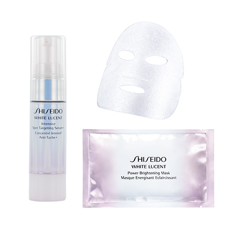 Shiseido White Lucent Intensive Spot Targeting Serum + and Power Brightening Mask