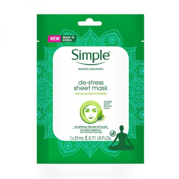 Simple Kind to Skin De-Stress Sheet Mask